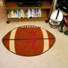 "University of Alabama Crimson A  22""x35"" Football Shape Area Rug"