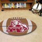 "Mississippi State University 22""x35"" Football Shape Area Rug"