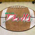 "Mississippi Valley State University Devils 22""x35"" Football Shape Area Rug"