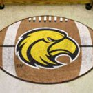 "University of Southern Mississippi 22""x35"" Football Shape Area Rug"