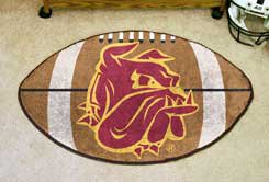 "University of Minnesota Duluth 22""x35"" Football Shape Area Rug"