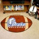 "Drake University Bulldogs 22""x35"" Football Shape Area Rug"