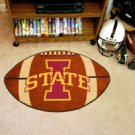 "Iowa State University 22""x35"" Football Shape Area Rug"