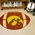 "University of Iowa Hawkeyes 22""x35"" Football Shape Area Rug"