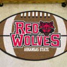 "Arkansas State University Red Wolves 22""x35"" Football Shape Area Rug"