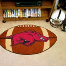 "University of Arkansas 22""x35"" Football Shape Area Rug"
