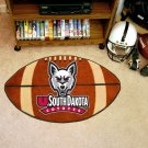 "University of South Dakota Coyotes 22""x35"" Football Shape Area Rug"