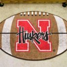 "University of Nebraska Huskers 22""x35"" Football Shape Area Rug"