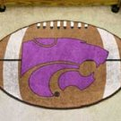 "Kansas State University 22""x35"" Football Shape Area Rug"