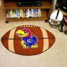 "University of Kansas KU 22""x35"" Football Shape Area Rug"