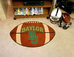 "Baylor University 22""x35"" Football Shape Area Rug"