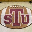 "Texas Southern University 22""x35"" Football Shape Area Rug"