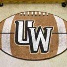 "University of Wyoming UW Logo 22""x35"" Football Shape Area Rug"