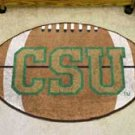 "Colorado State University CSU Logo 22""x35"" Football Shape Area Rug"