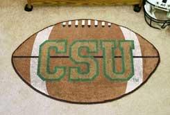"Colorado State University CSU Logo 22""x35"" Football Shape Area Rug"