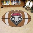 "University of New Mexico Lobos 22""x35"" Football Shape Area Rug"