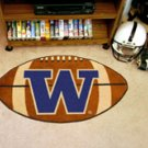 "University of Washington Huskies 22""x35"" Football Shape Area Rug"
