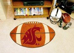 "Washington State University 22""x35"" Football Shape Area Rug"