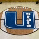 "Utah State University U State 22""x35"" Football Shape Area Rug"
