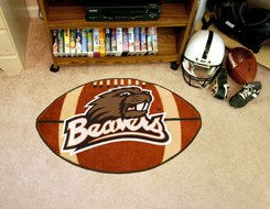 "Oregon State University Beavers 22""x35"" Football Shape Area Rug"