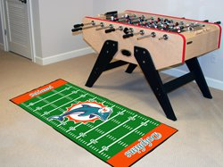 """NFL-Miami Dolphins 29.5""""x72"""" Large Rug Floor Runner"""
