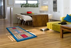 """NBA-Los Angeles Clippers 29.5""""x54"""" Large Court Runner Rug"""