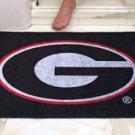 "University of Georgia G logo on Black 34""x44.5"" All Star Collegiate Carpeted Mat"