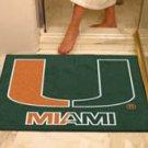 "University of Miami 34""x44.5"" All Star Collegiate Carpeted Mat"