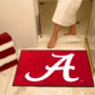 "University of Alabama Crimson A Logo 34""x44.5"" All Star Collegiate Carpeted Mat"