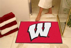 "University of Wisconsin  34""x44.5"" All Star Collegiate Carpeted Mat"