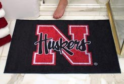 "University of Nebraska Huskers 34""x44.5"" All Star Collegiate Carpeted Mat"