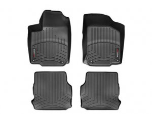 WeatherTech Custom Fit  2004 - 2010 BMW 5-Series (E60/E61) Black 1st & 2nd Row FloorLiner