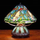 "Meyda 16"" Stained Glass Tiffany Koi Mosaic Accent Table Lamp"
