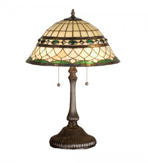 """Meyda Stained Glass 23"""" Tiffany Roman Accent Table Lamp"""