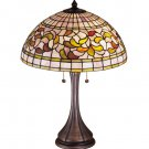 """Meyda Stained Glass 23"""" Tiffany Turning Leaf Accent Table Lamp"""