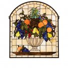 Meyda Tiffany Stained Art Glass Fruitbowl Window Panel