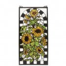 Meyda Tiffany Stained Art Glass Sunflowers in Bloom Window Panel