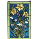 Meyda Tiffany Stained Art Glass Spring Bouquet Hanging Window Panel