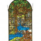Meyda Tiffany Stained Art Glass Waterbrooks Hanging Window Panel
