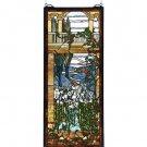 Meyda Tiffany Stained Art Glass Peace Balcony Hanging Window Panel