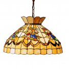 """Meyda Tiffany 19.5"""" Stained Art Glass Bumble Bee Pendant Ceiling Light Fixture"""