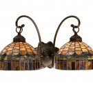 Meyda Tiffany Stained Art Glass Candice 2 Light Wall Sconce