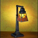 Meyda Tiffany Stained Art Diamond Mission Mica Single Arm Desk Lamp