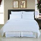 ALL SIZES Solid White 8pc Bedding Set Super Soft Microfiber Sheets+Duvet+Alternative