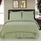 ALL SIZES Solid Sage Green 8pc Bedding Set Super Soft Microfiber Sheets+Duvet+Alternative