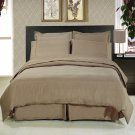 ALL SIZES Solid Taupe 8pc Bedding Set Super Soft Microfiber Sheets+Duvet+Alternative