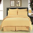 ALL SIZES Solid Gold 8pc Bedding Set Super Soft Microfiber Sheets+Duvet+Alternative