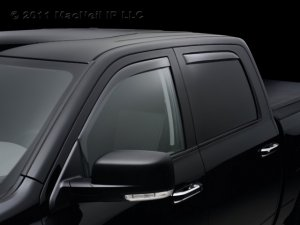 4pc 2006 - 2011 Honda Ridgeline Light Tinted Side Window Deflector Complete Set