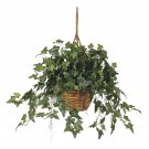 Nearly Natural Artificial English Ivy Hanging Basket Silk Plant Floral Decor