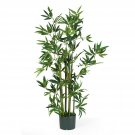Nearly Natural Artificial 4' Bamboo Tropical Palm Silk Tree Home Decor